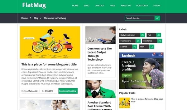 25 Best Free Blogger Templates - Developer\'s Feed