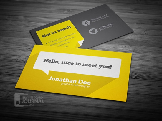 Best free business card templates developers feed flat design business card template with long shadow cheaphphosting Gallery