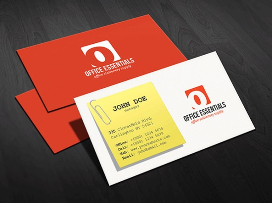 Creative Office Supplies Business Card Template
