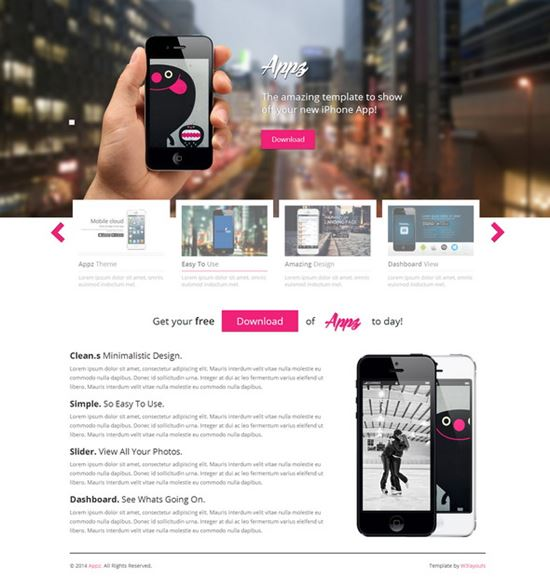 appz single page responsive website template - Free Responsive Website Templates