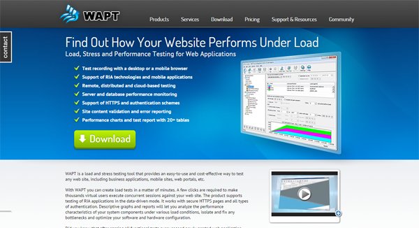20 best performance testing tools - WAPT