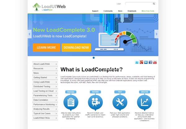 20 best performance testing tools -LoadComplete