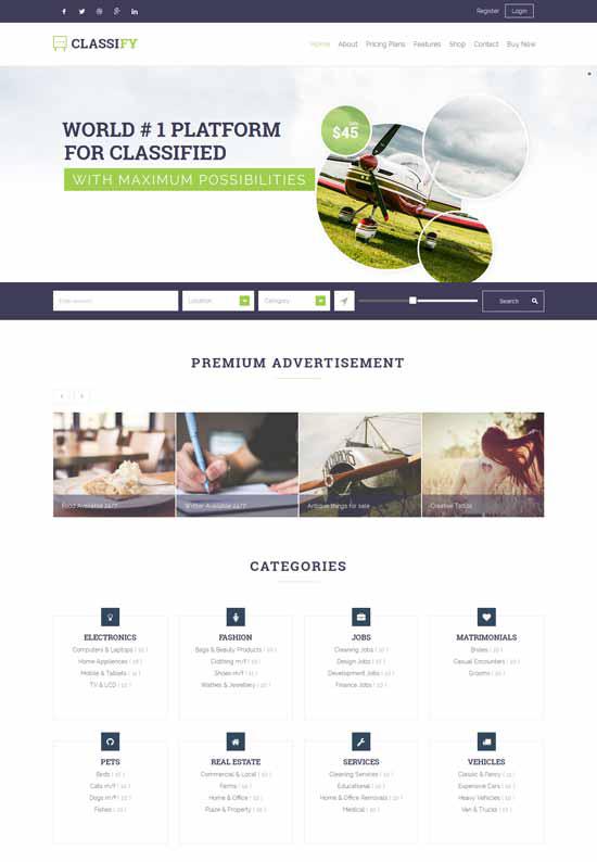 8 Best Classified Ads Wordpress Themes - Developer\'s Feed