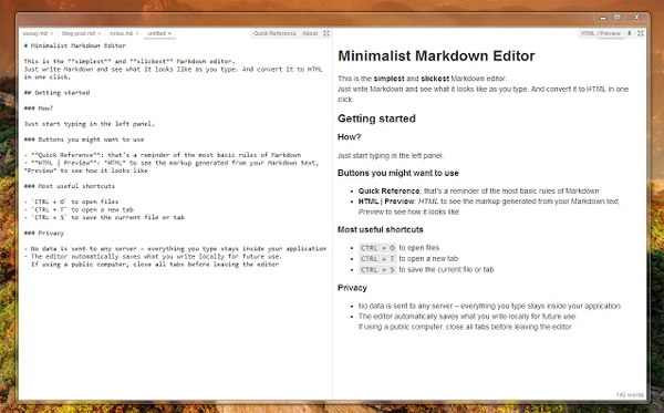 minimalist-markdown-edito