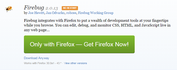 firebug for mozilla firefox free download