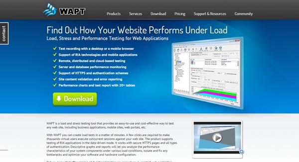 20 best performance testing tools - WAPT