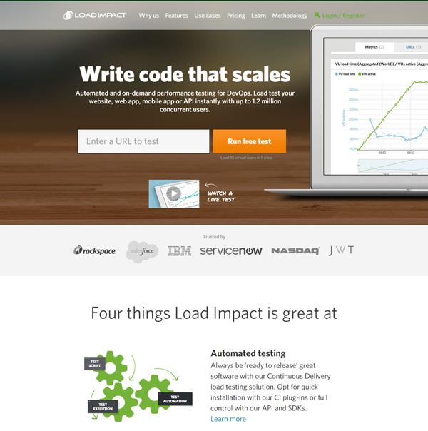 20 best performance testing tools - LoadImpact
