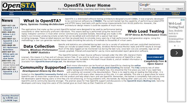 20 best performance testing tools - OpenSTA