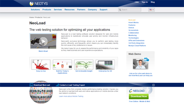 20 best performance testing tools - NeoLoad
