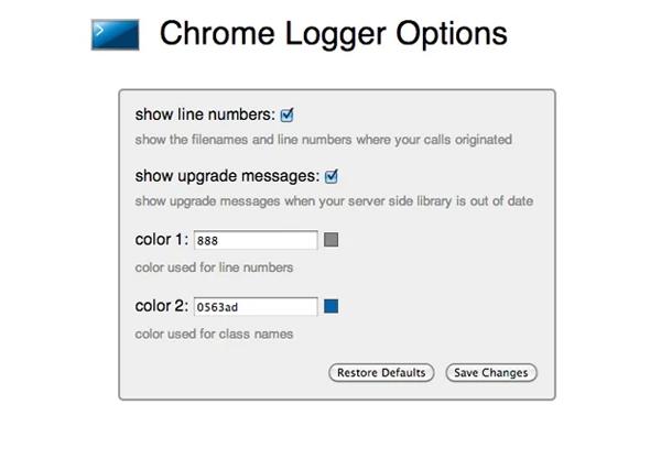 chrome-logger