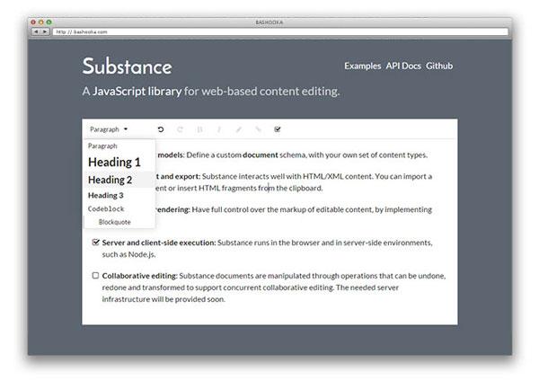 Awesome Javascript WYSIWYG Markdown Editors - substance